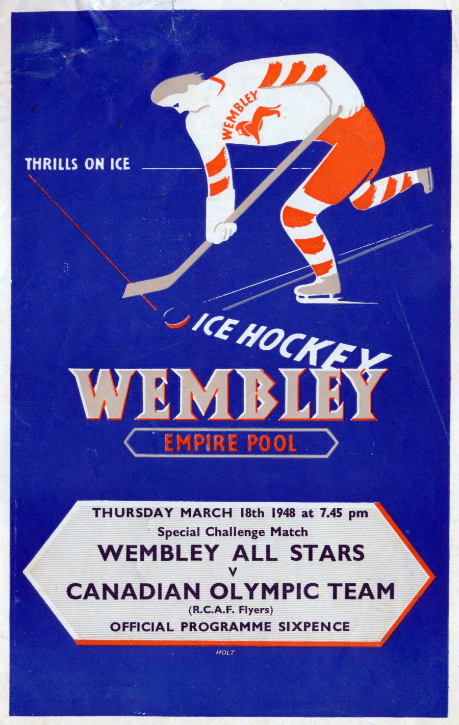Photo: RCAF Flyers vs Wembley on Mar 18 1948