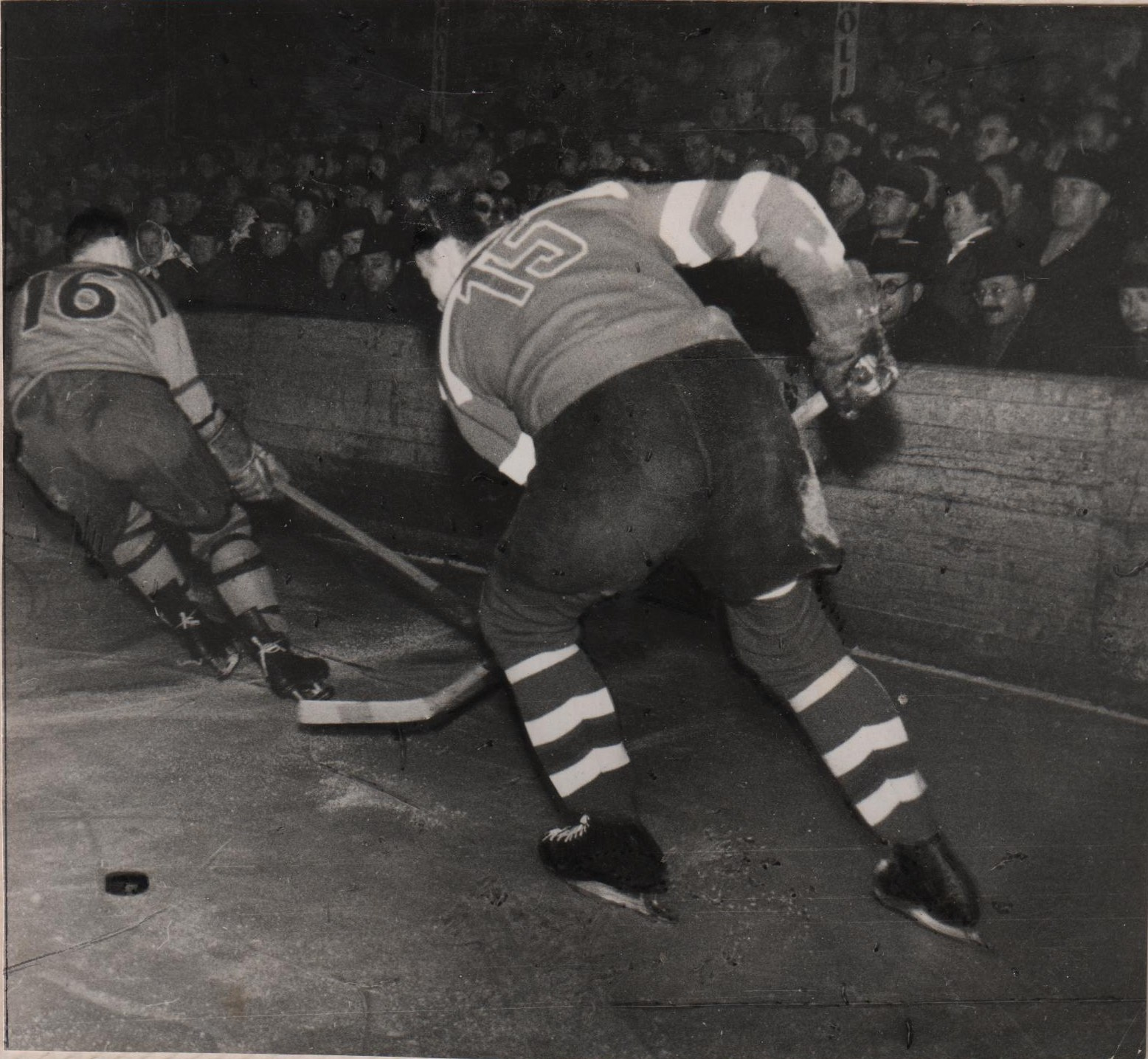 Photo: Post Olympic Game RCAF Flyers vs Budejovice at Prague Czechoslovakia