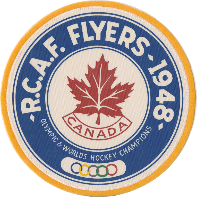 Photo: RCAF Flyer Crest Celebrating Olympic Hockey Gold Medal