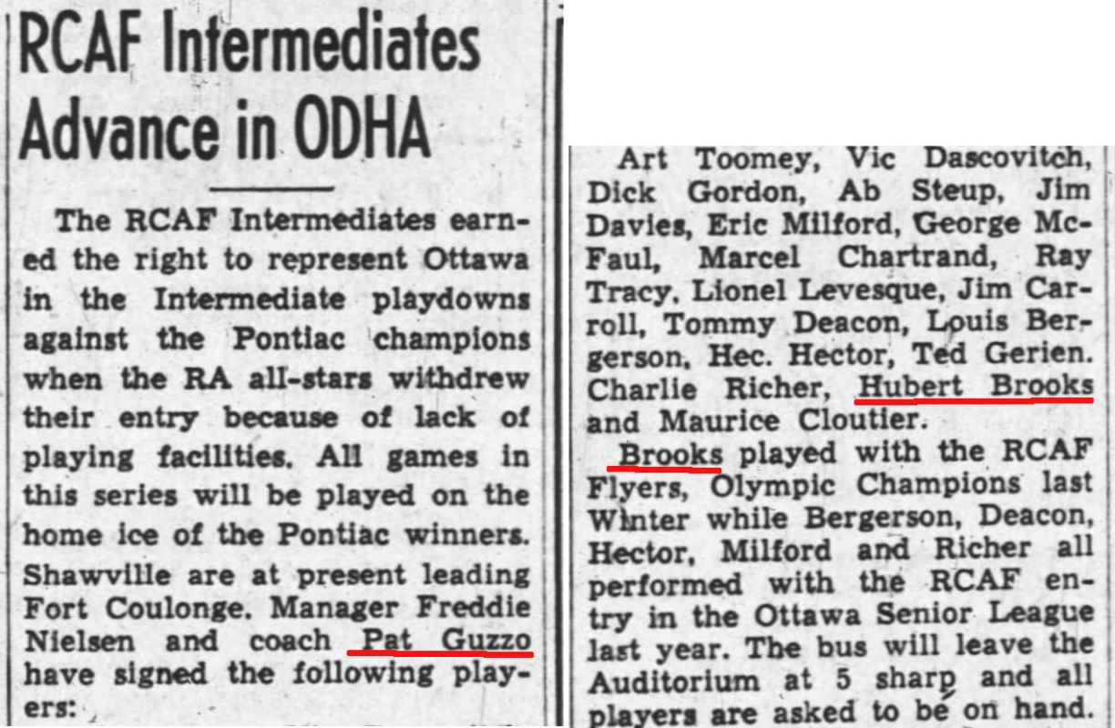 Image: News Story on RCAF Intermediates for 1949 1950 Season