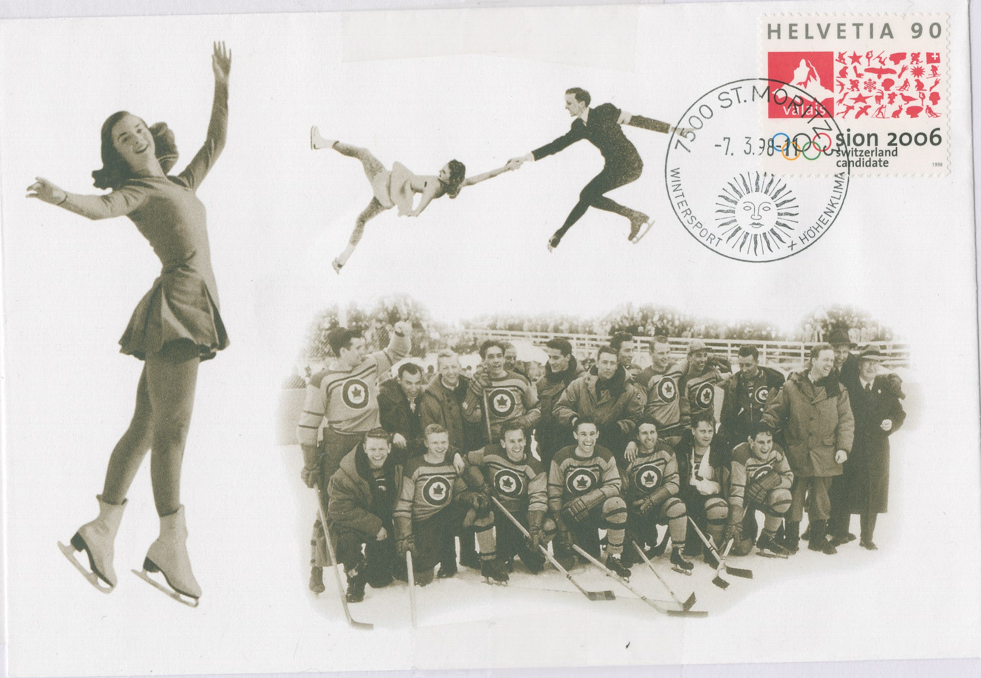 Photo: SWISS commemorative stamp honoring the R.C.A.F. Flyers and other Canadian Medal Winners