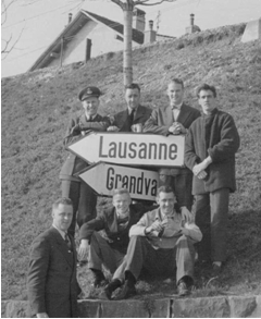 Photo: RCAF Flyers on the Road to Lausanne Switzerland