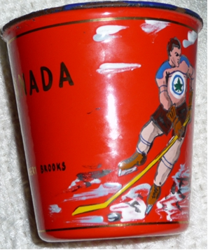 "Image 1 of Souvenir "" Red Cup"" offered to each of RCAF Flyers in Budĕjovice CZECHOSLOVAKIA"