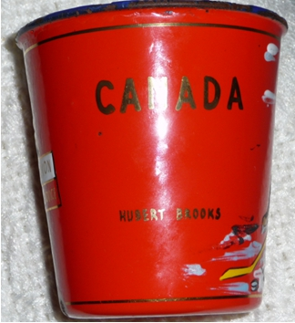 "Image 2 of Souvenir "" Red Cup"" offered to each of RCAF Flyers in Budĕjovice CZECHOSLOVAKIA"