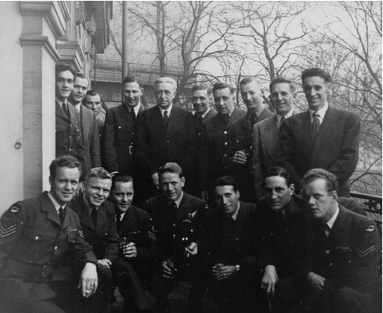 Photo: RCAF Flyers With Ambassador General Georges P. Vanier in Paris