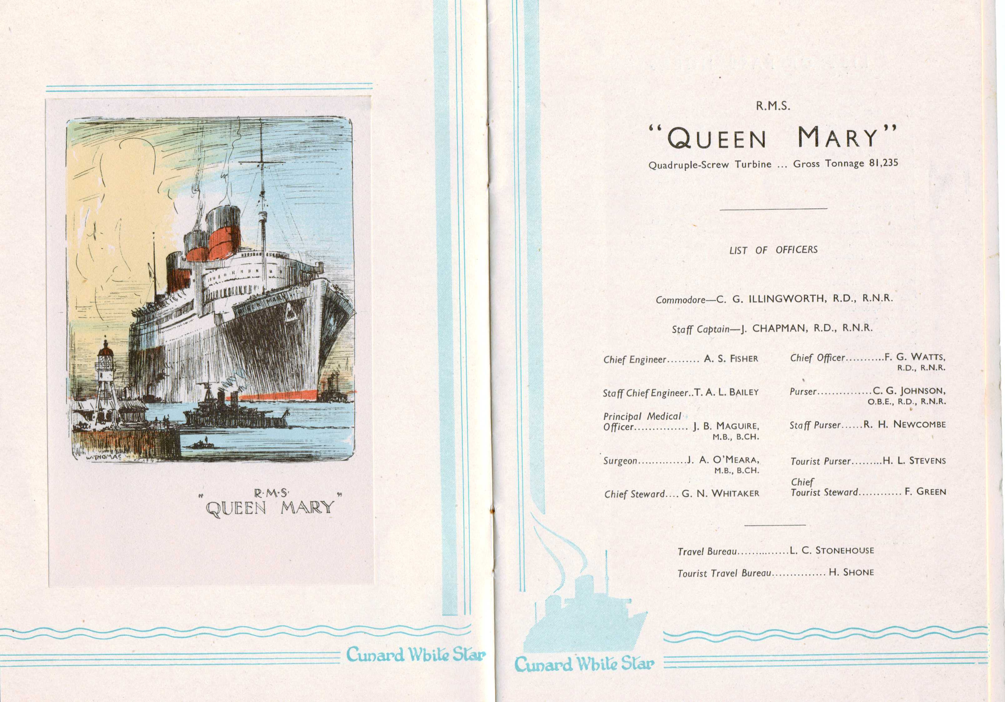 Photo: Cunrad Line Queen Mary LIST of Passengers Pages 2 and 3