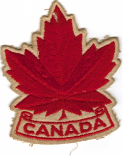Photo: RCAF Flyer CANADA Crest Worn on Sports Jacket