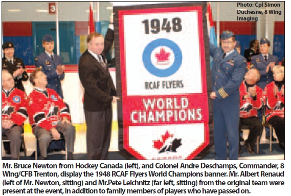 Photo: R.C.A.F. Station 8 WING Trenton Ontario Hockey Canada