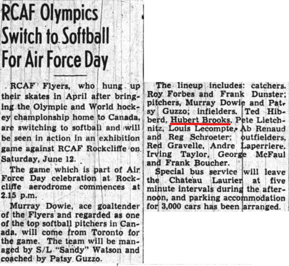 Image: News Story RCAF Flyers Softball Air Force Day June 12 1948