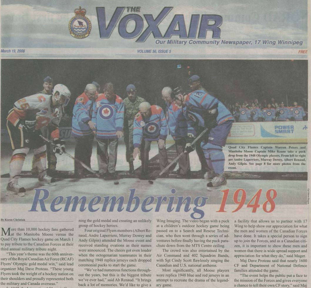 Photo: Voxair  60th Anniversary Manitoba Moose 2008
