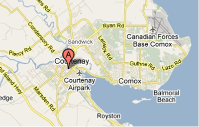 Photo: Comox Map courtesy of Google Maps