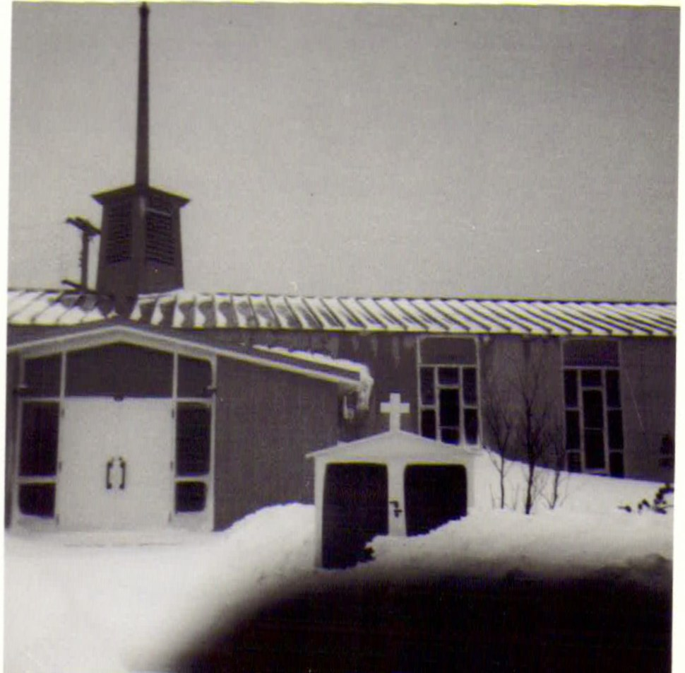 Photo: Entrance to RCAF Moisie Church