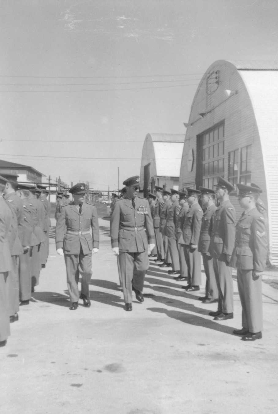 Photo: Ralph MacWilliam Inspects Airmen prior to Command Transfer