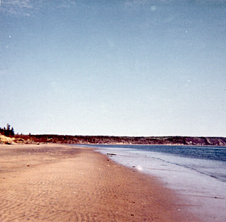 Photo: Beach on Moisie River next to RCAF Moisie