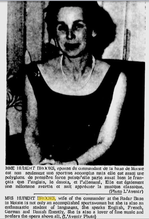 Photo: L'Avenir May 3, 1966 photo accompanying article on Birthe Brooks
