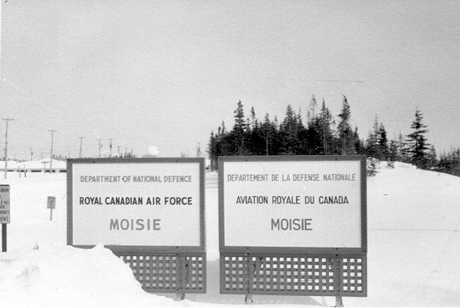 Photo: RCAF Moisie Sign at Station Entrance