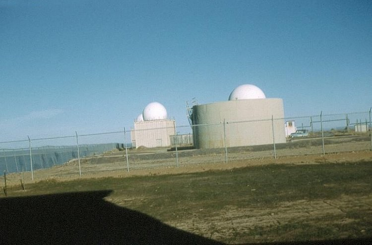 Photo: Close Up of RCAF Moisie Radar Domes
