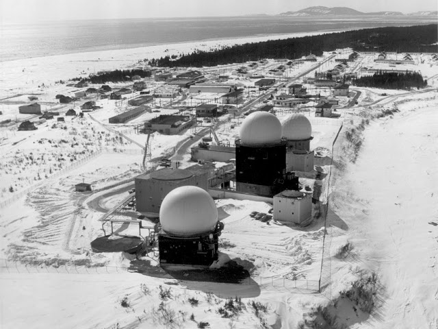 Photo: Aerial View of RCAF Moisie Radar Domes 1