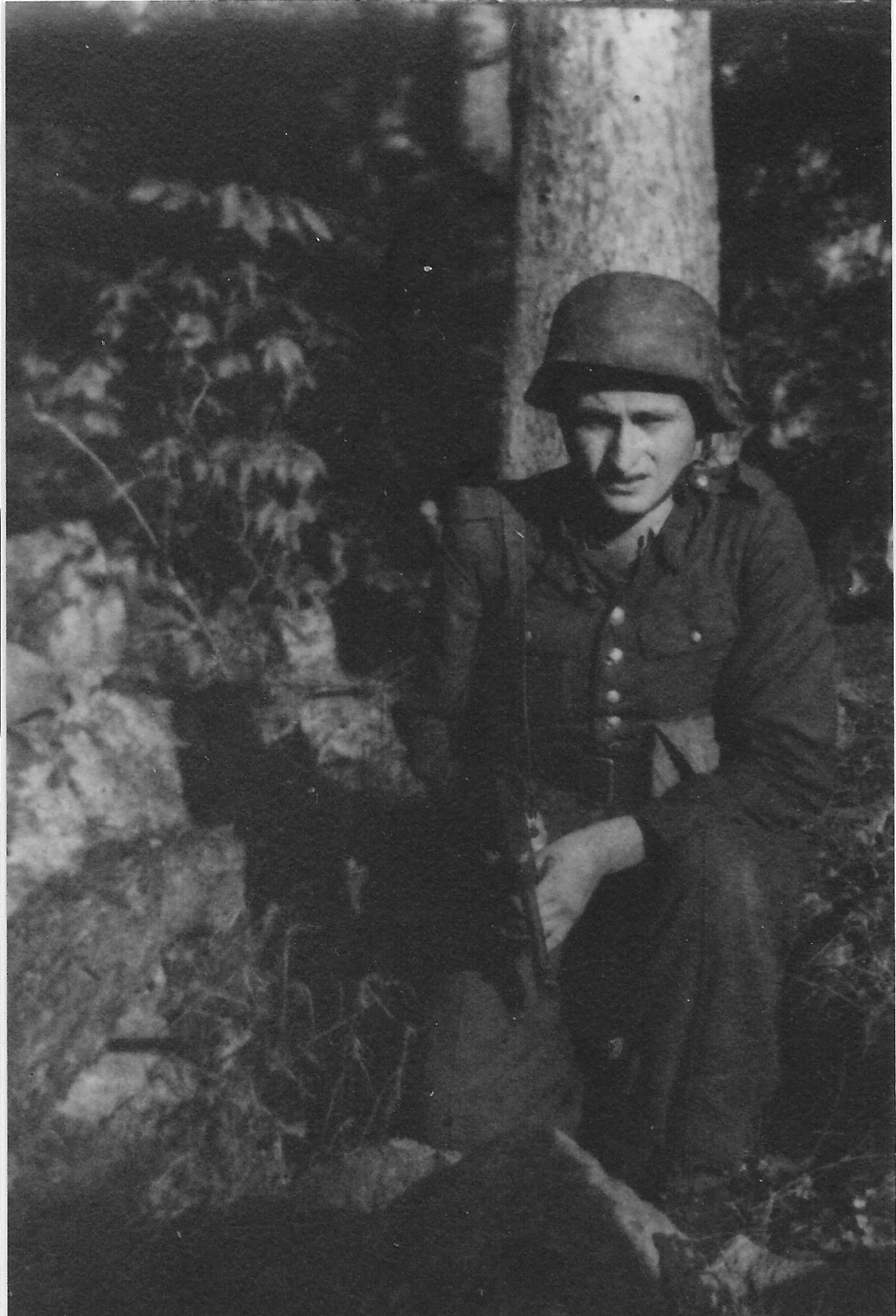 Photo:  Józef Węglarz  ps Mały  In Woods 1944