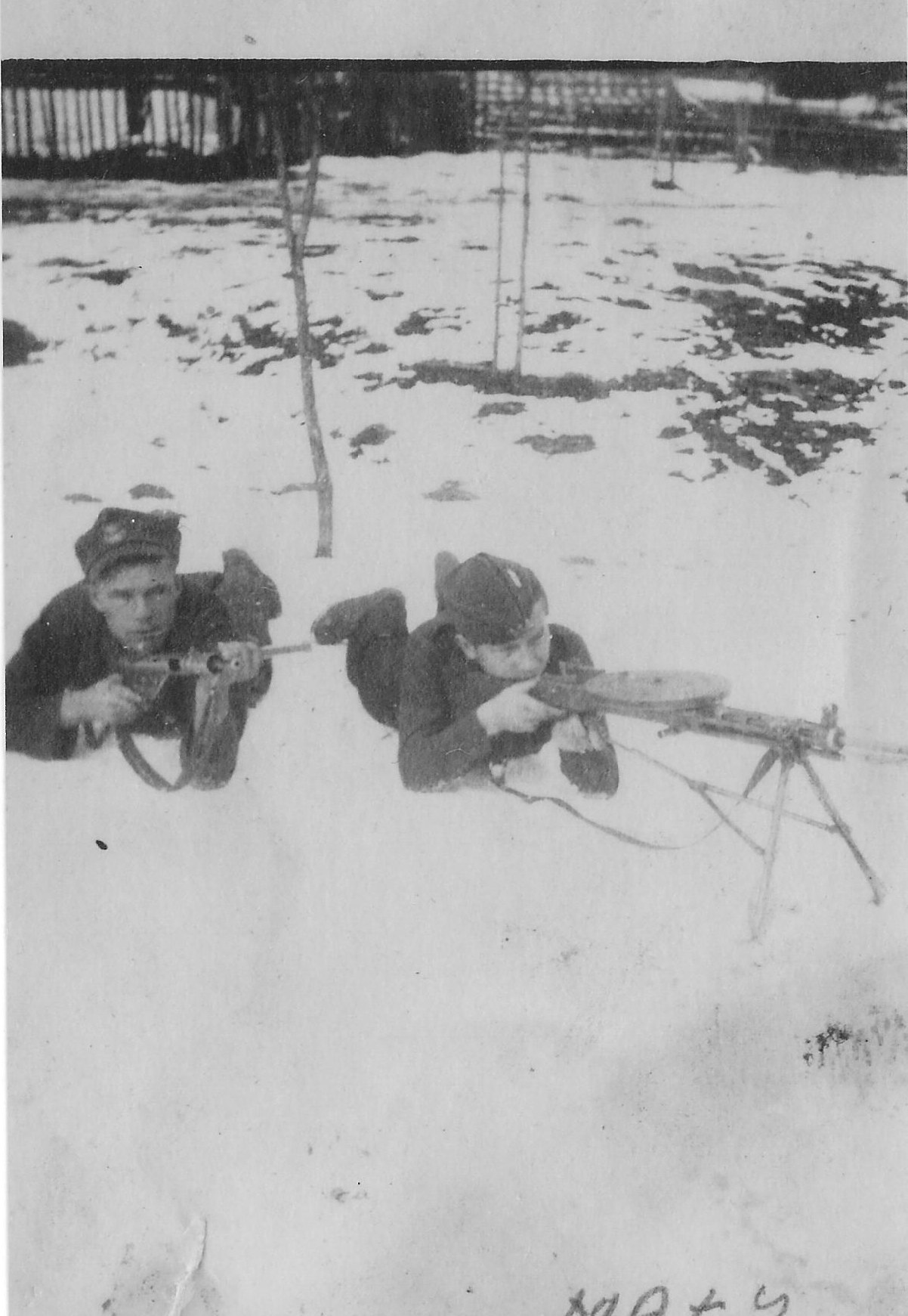 Photo:  NN and Józef Węglarz  ps Mały  Winter 1944