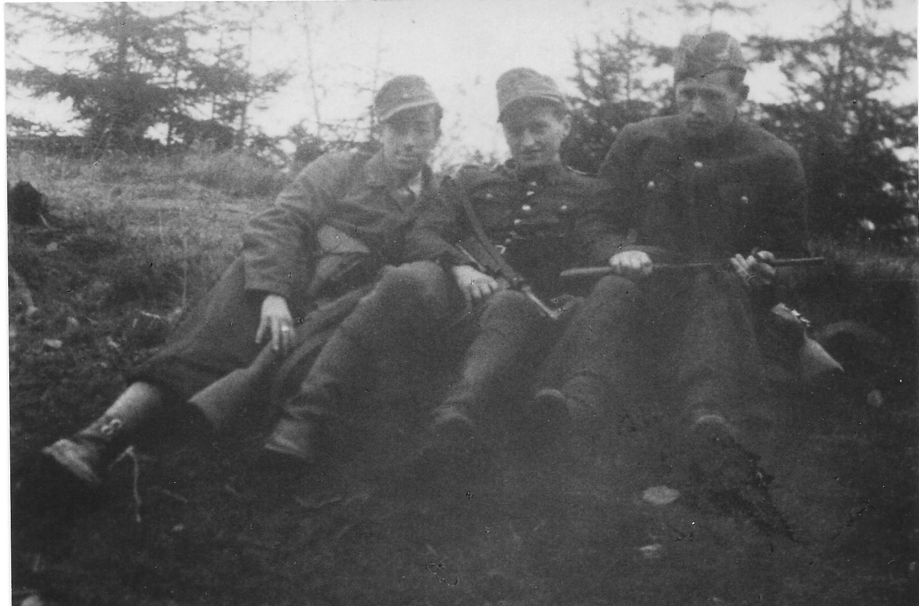 Photo:   at Lubon with Adam Hubiszta ps Łoś,Józef Węglarz  ps Mały and  Władysław Kępa  ps Ferdek in 1944