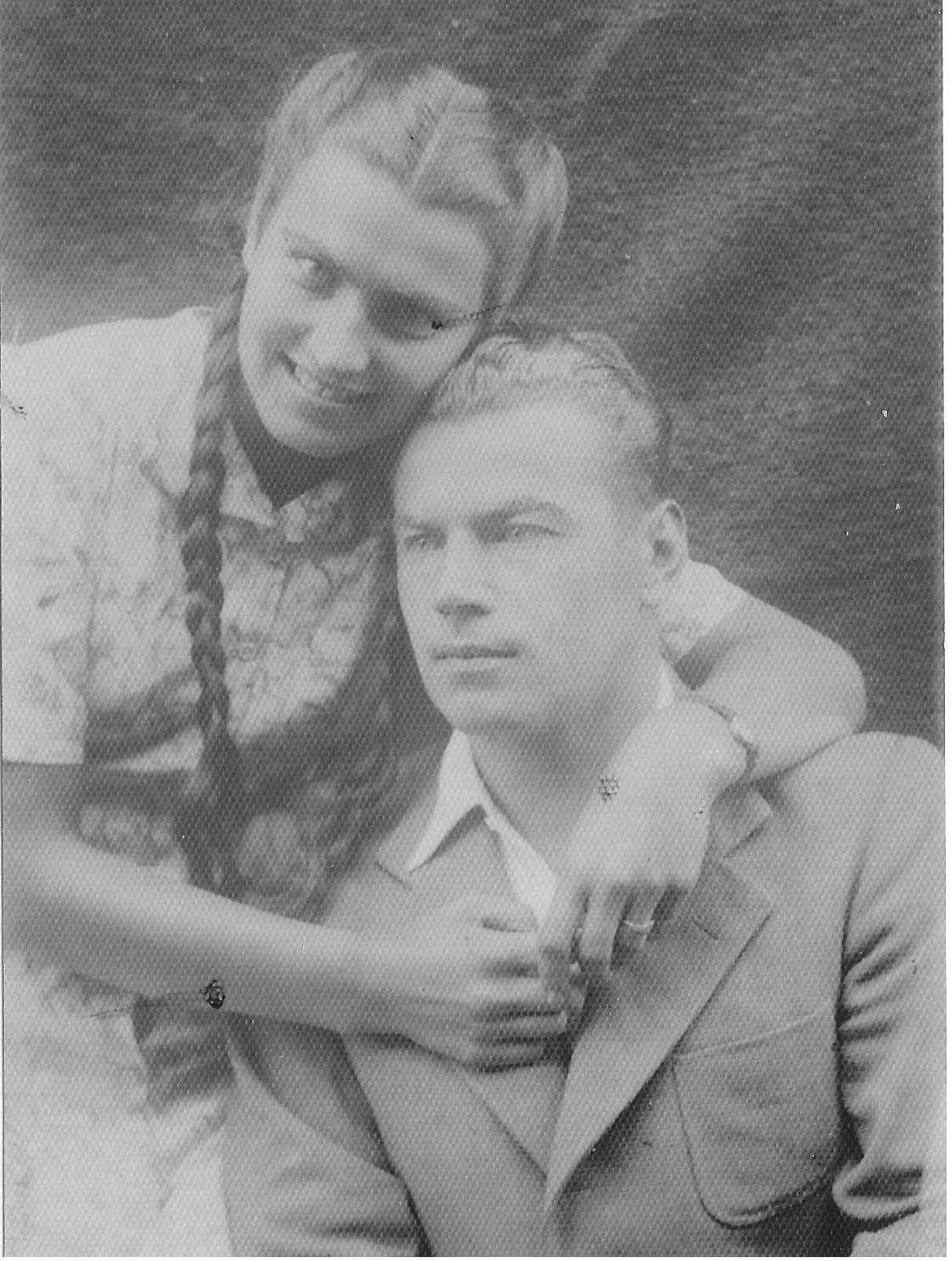 Adam with his sister Jozefa 1946