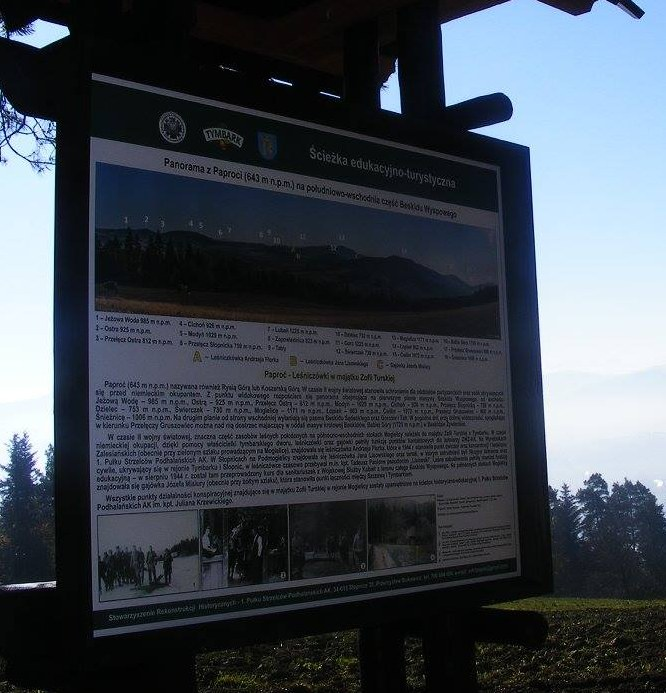 Image of Tymbark tourist-educational historical Information Panel 4