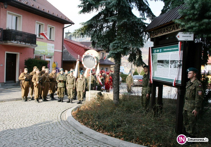 Image of Tymbark tourist-educational historical trail commemorating  the Polish Home Army  clandestine activities in 1939-1945 -opening Ceremonies 5