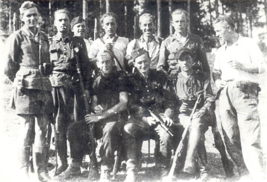 Photo: August 1944 MSZYCA Partisan  Soldiers  Waiting for Airdrop to MOGIELNICA