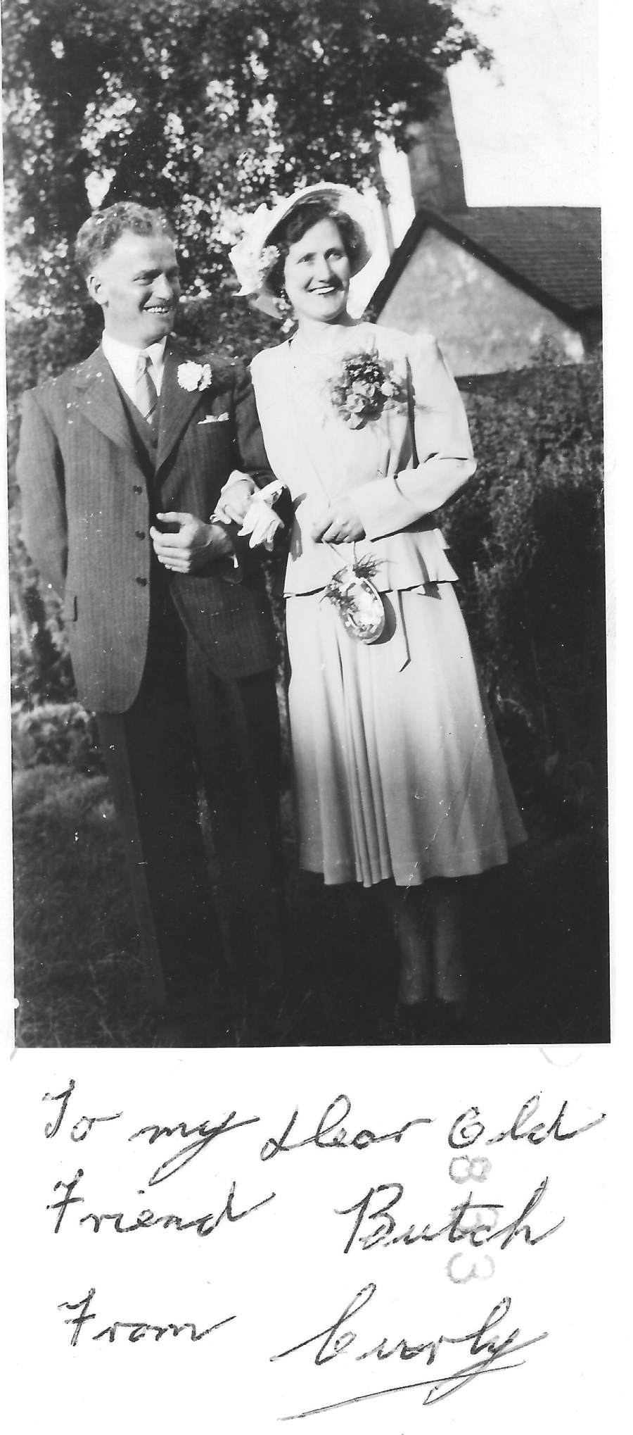 Photo John Duncan and his wife on their Wedding Day