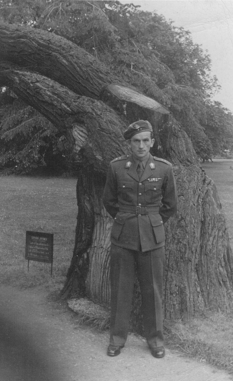 Image of Lieutenant Commander Gustaw G&#243;recki ps. Gustaw, Commander 2<sup>nd</sup> Company, I Battalion  In London After The War July 31, 1947