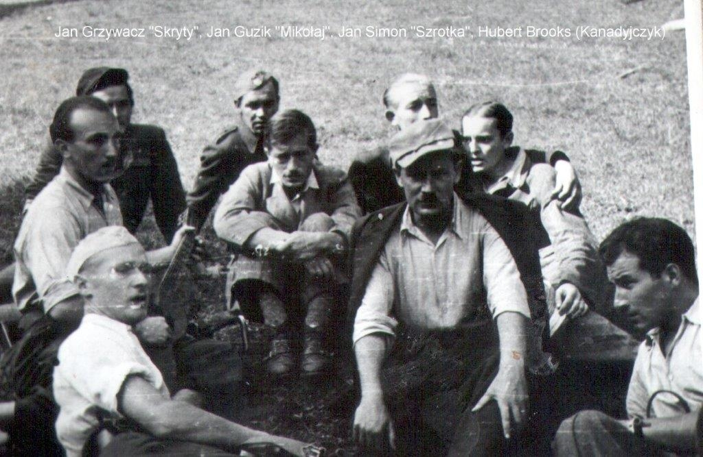 Hubert Brooks with AK Partisans