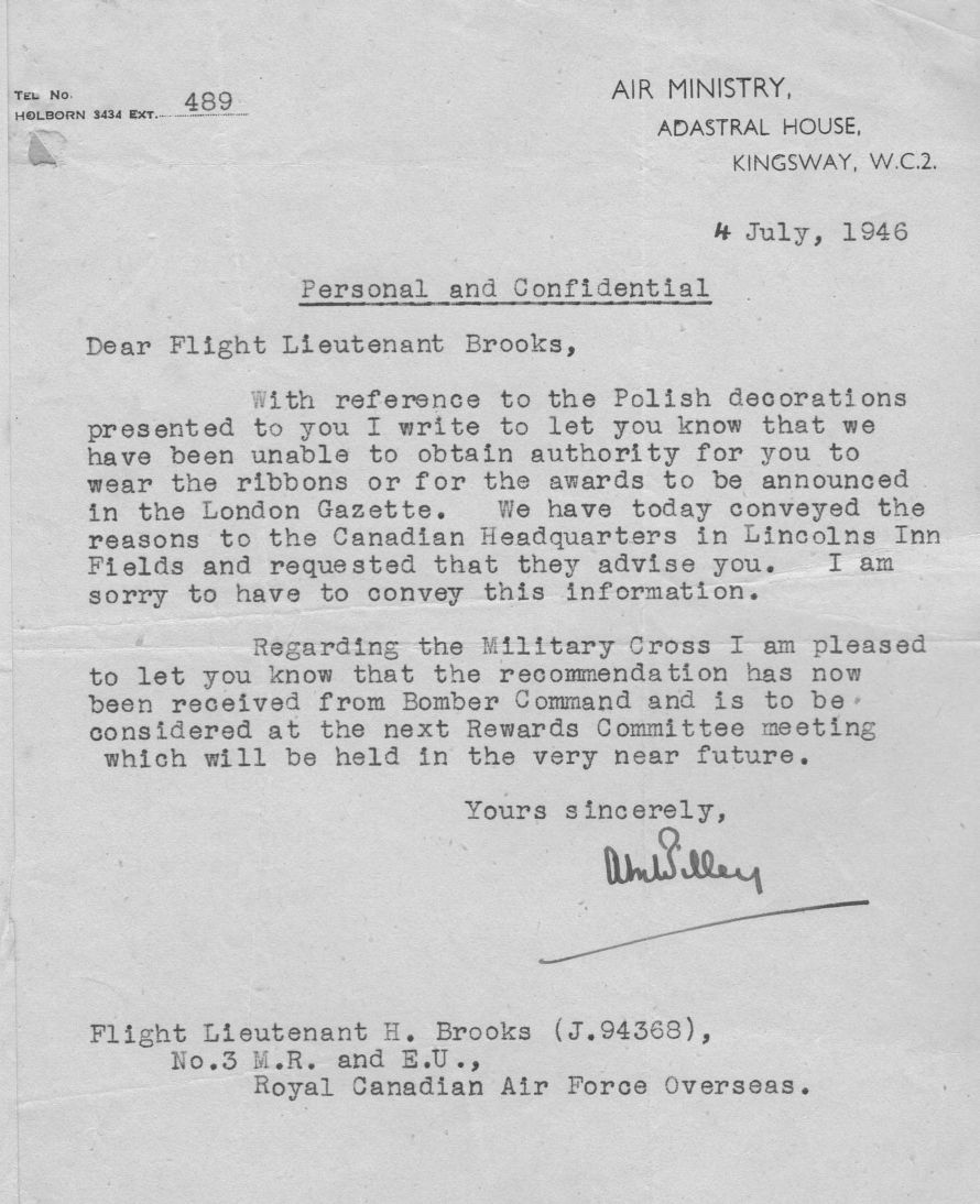 Image British Gov Ltr 2 re Hubert Brooks Award