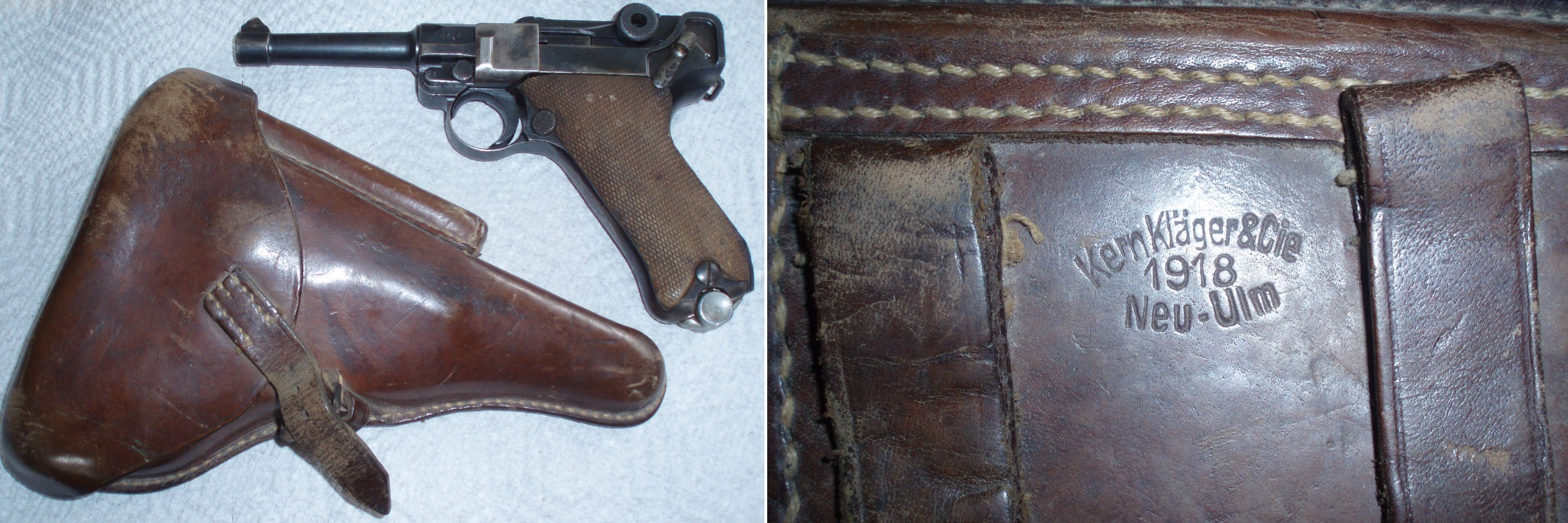 PHOTO Nazi Luger P08 (Pistolle Parabellum) Found by Hubert Brooks