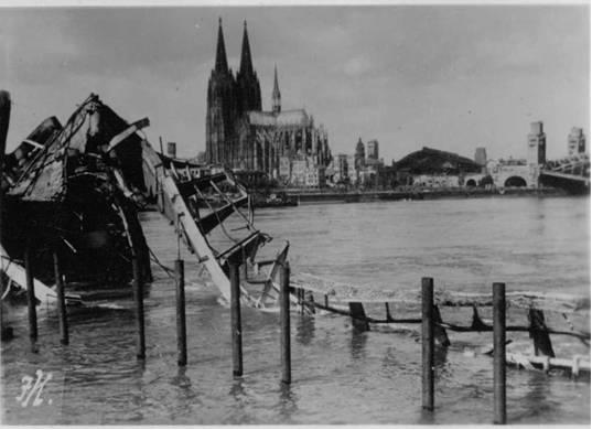PHOTO 3: Bomb Damage around Dom Cathedral in Cologne