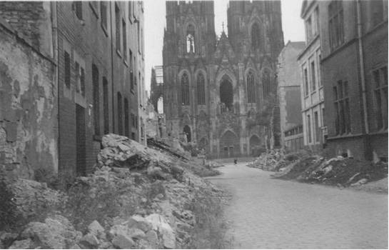 PHOTO 5: Bomb Damage around Dom Cathedral in Cologne