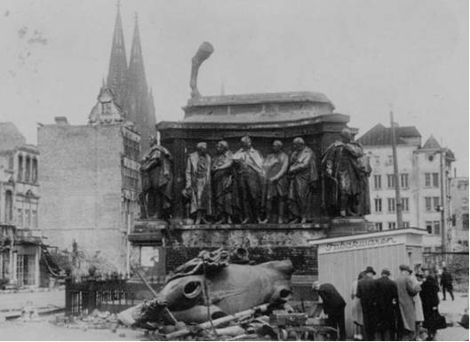 PHOTO 6: Bomb Damage around Dom Cathedral in Cologne