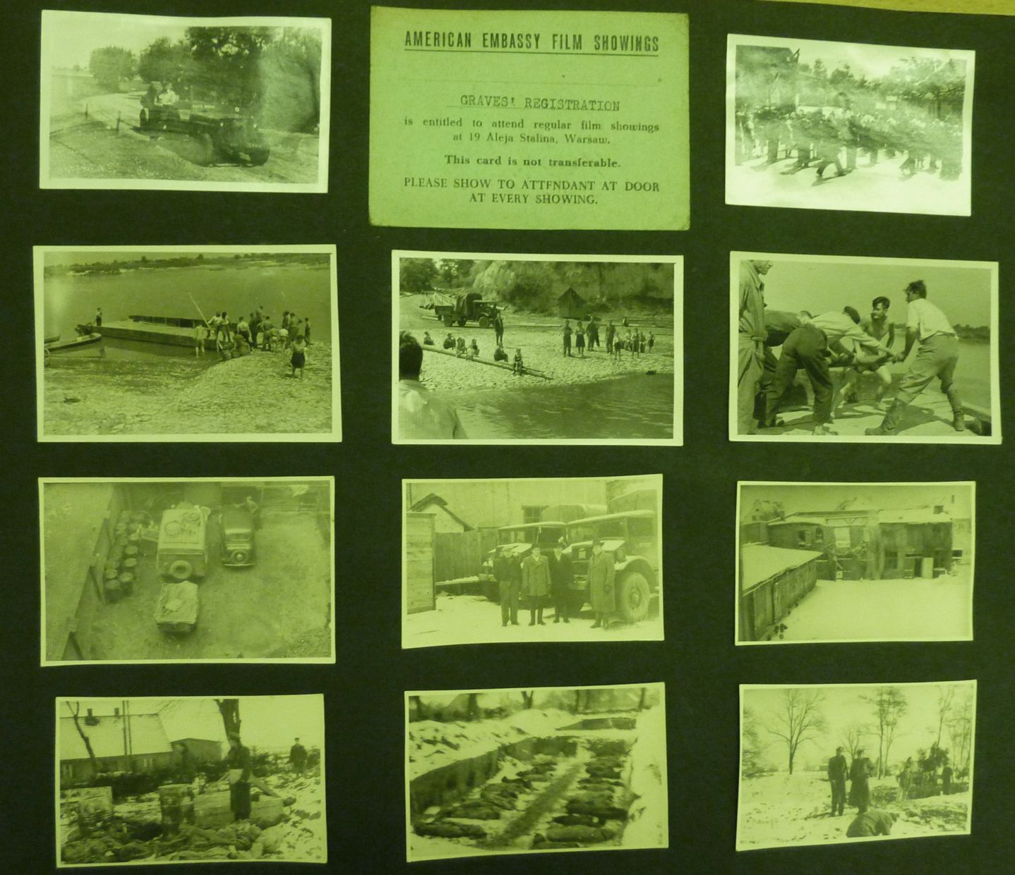 IMAGE 5: Montage of Photos from S/L Eric Rideal's  PHOTO Alblum now residing in the RAF Museum in London