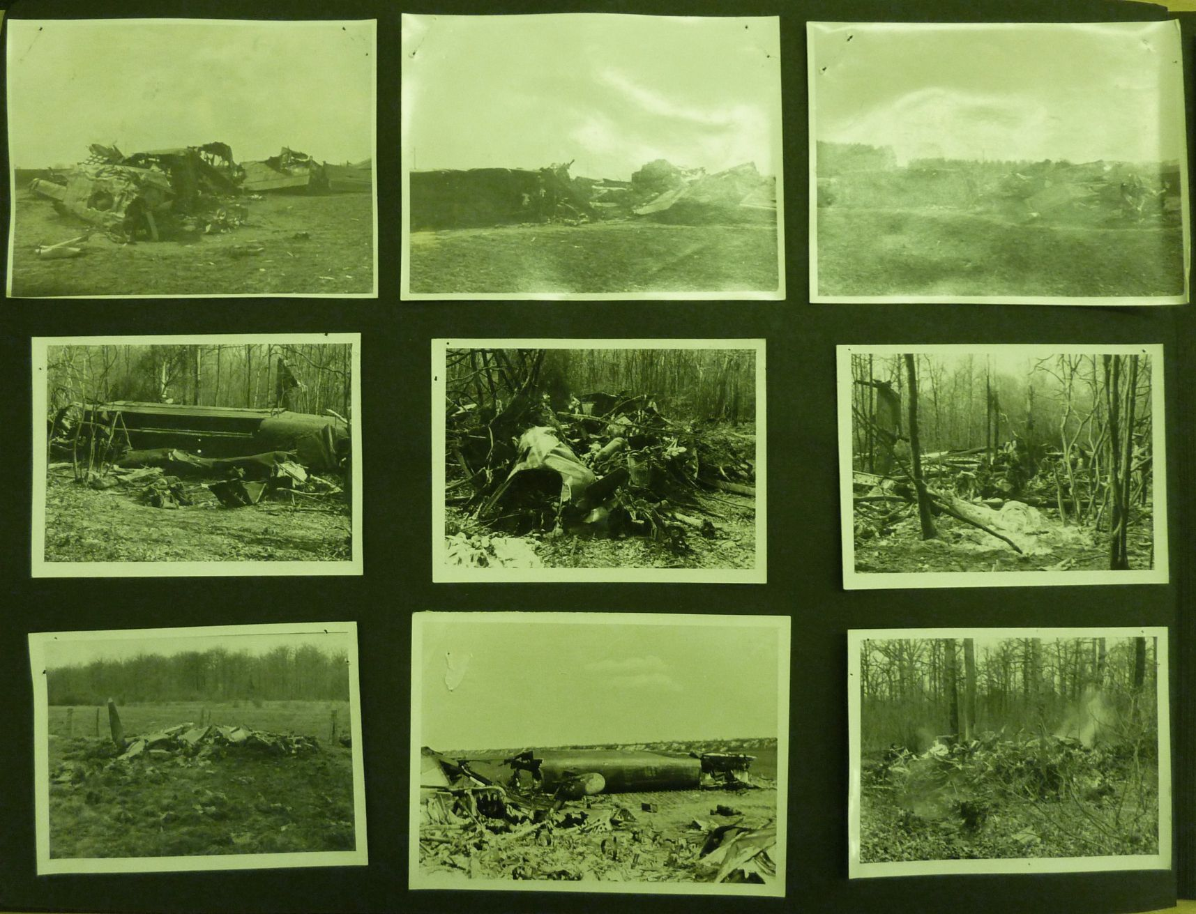 IMAGE 6: Montage of Photos from S/L Eric Rideal's  PHOTO Alblum now residing in the RAF Museum in London