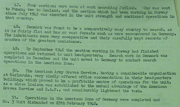 Image pages 22–23 of M.R.E.S. Report AR55/65 describing history of No 3 MRES 2 of 2