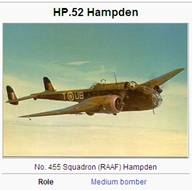 Image of Hampden aircraft