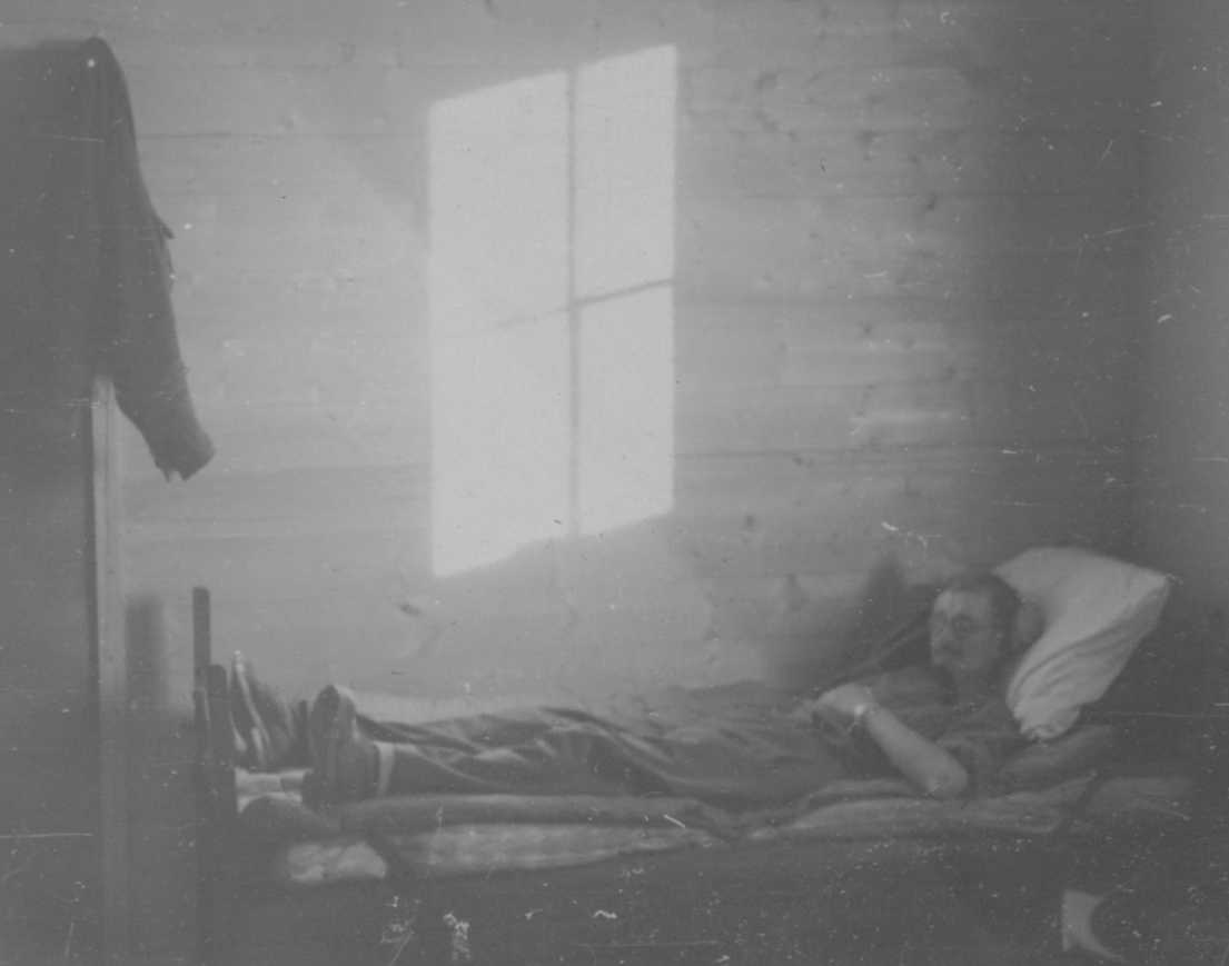 PHOTO Chick Rideal Sleeping with Midnight Sun Streaming Through Window