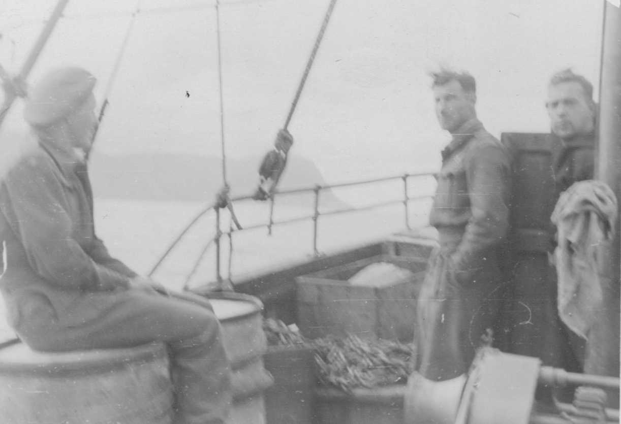 PHOTO Hubert Brooks aboard sail powered fishing trawler around Cape Nordkyn