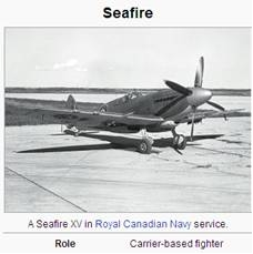 Image of Seafire aircraft