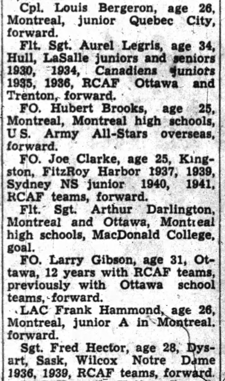 IMAGE: Partial List 2 of  RCAF Flyer Prospects in camp as of October 21 1947