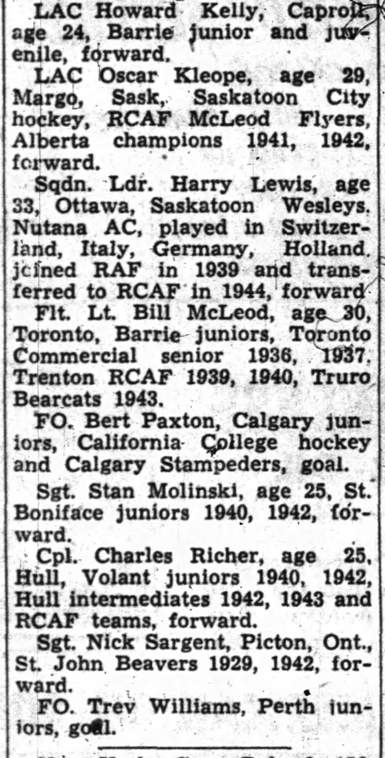 IMAGE: Partial List 3 of  RCAF Flyer Prospects in camp as of October 21 1947