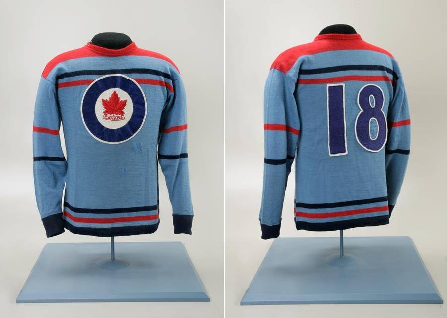 Photo: Hubert Brooks RCAF Flyer Olympic Game Hockey Jersey