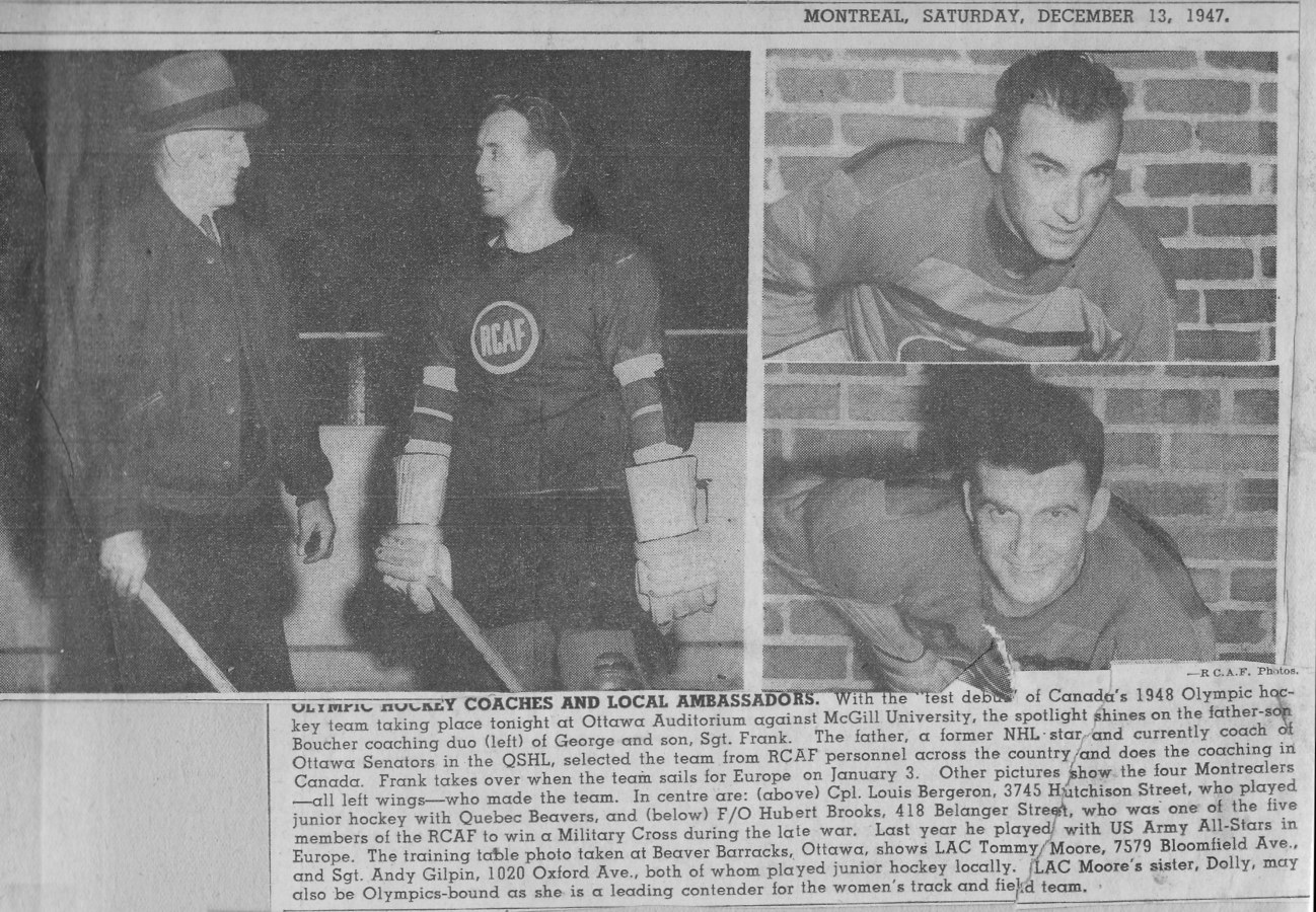 Image: Montreal Star Saturday December 13 1947 picture prior to Olympic Night