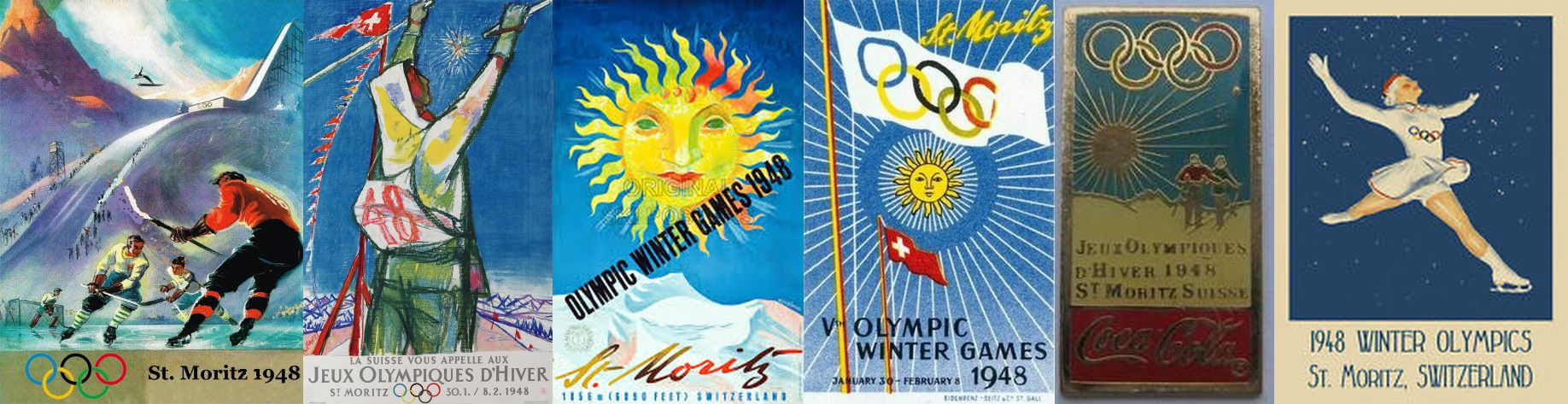 Photos: 1948 Winter Olympics Posters