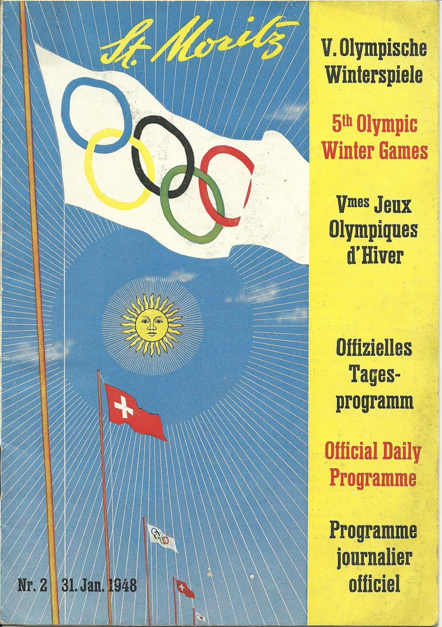 Photo: Official Program Cover Page for 1948 Winter Olympics
